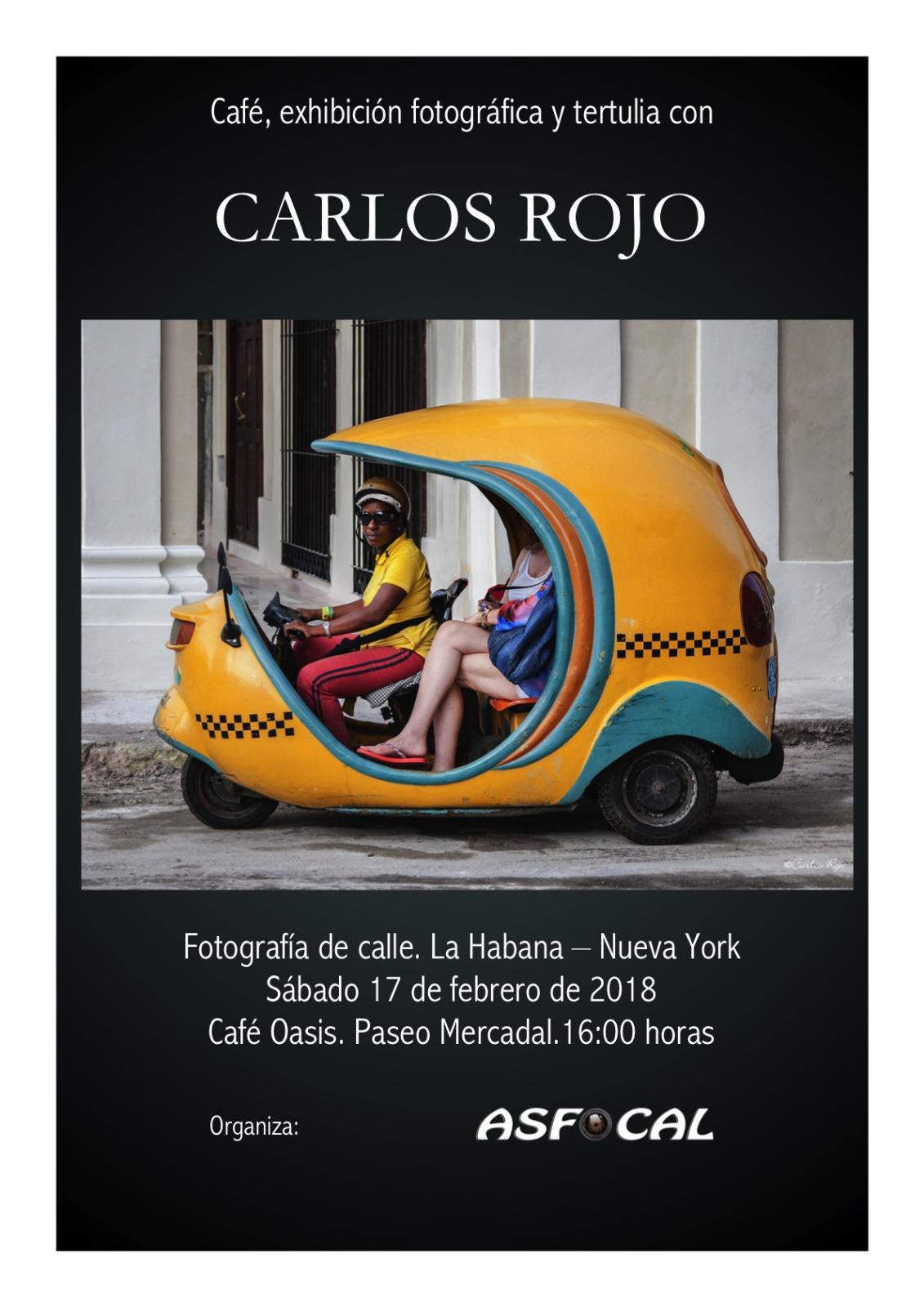 Cafe, exposición fotográfica y tertulia con Carlos Rojo