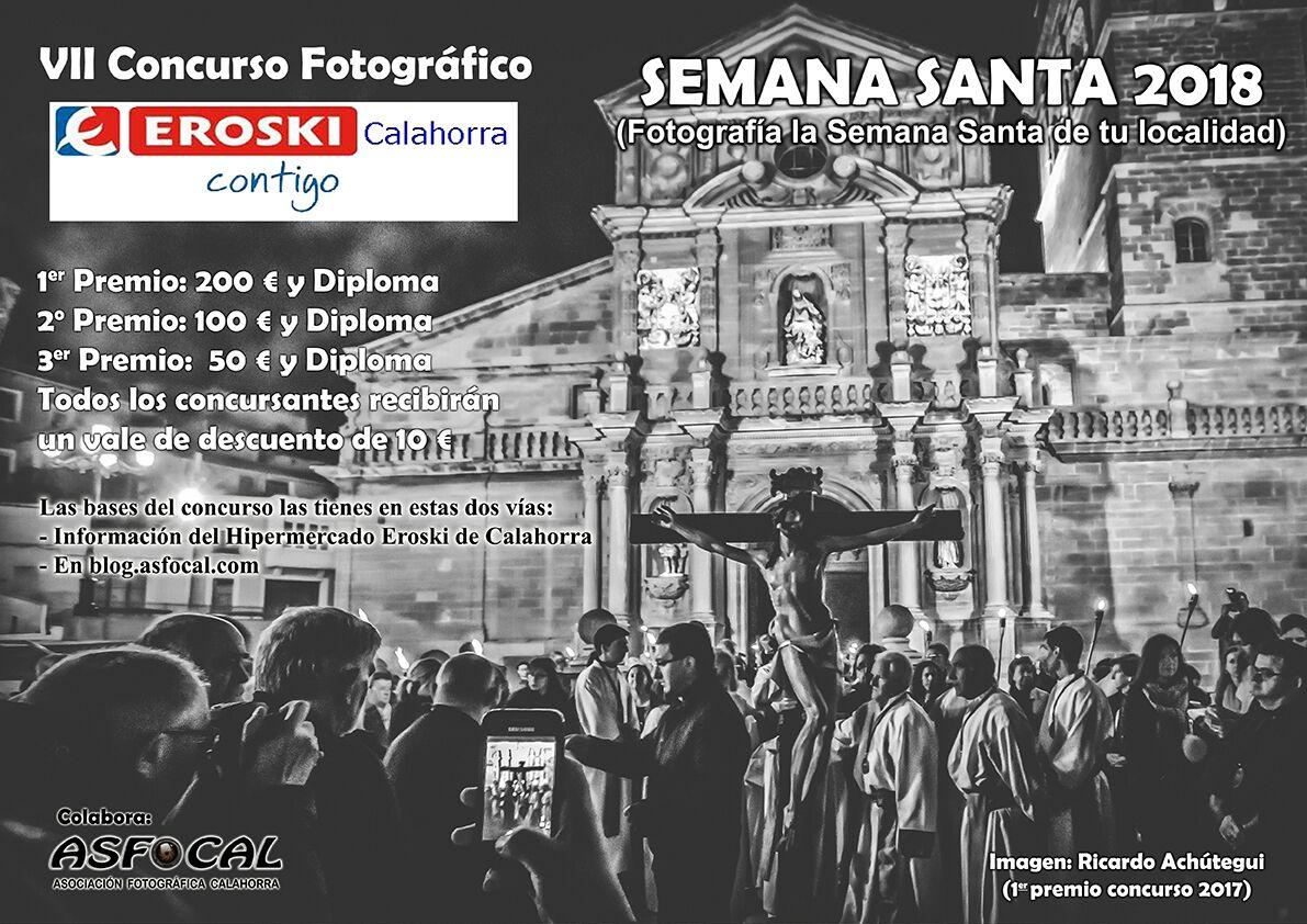 """VII Concurso fotográfico """"la semana santa de tu localidad"""" organizado por EROSKI"""