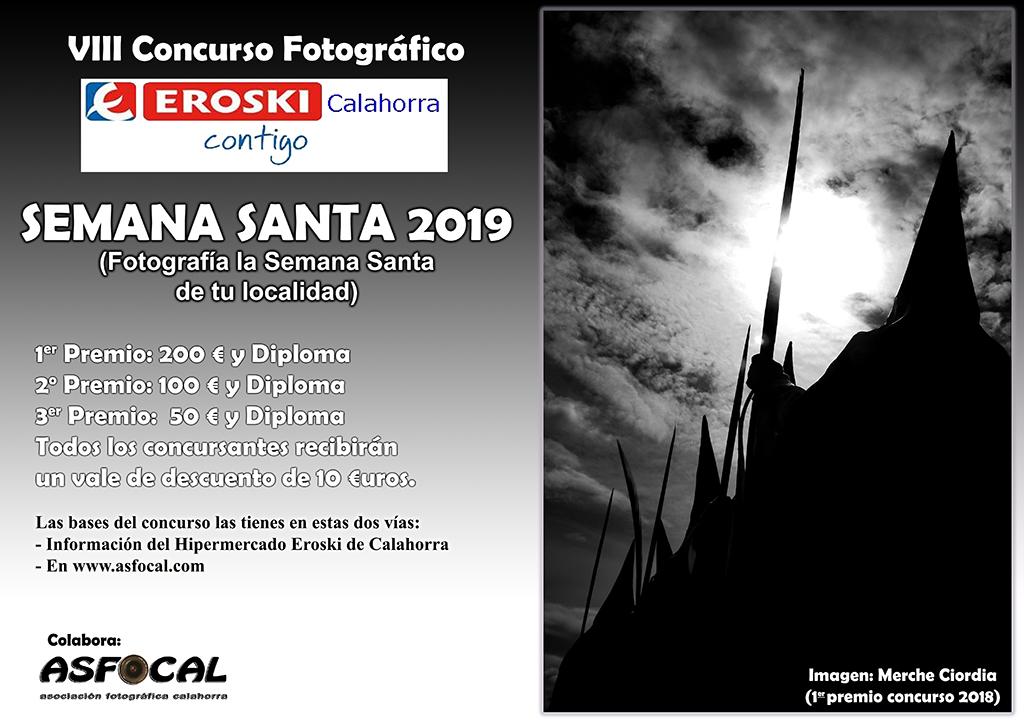 VIII CONCURSO FOTOGRÁFICO «SEMANA SANTA 2019» organizado por Eroski