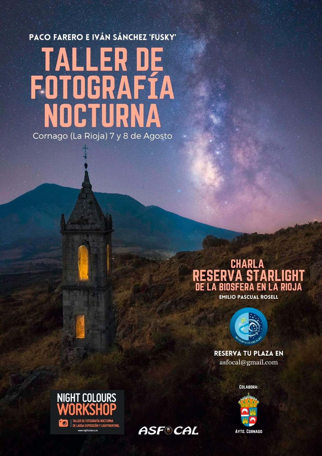 Taller de fotografía nocturna (7 agosto)